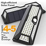 MagicPro Solar Lights Motion Sensor Solar Powered Light - 136 LED Outdoor Security Lighting for Porch, Garden, Driveway, Energy Saving, Durable and Waterproof White Light 2PK is Highly Efficient