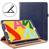 ZoneFoker New iPad Mini 5 7.9 inch 2019 Tablet Leather Case, Auto Sleep/Wake 360 Protection Multi-Angle Viewing Folio Stand Cases with Pencil Holder for iPad Mini5 5th Generation - Blue