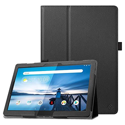 Fintie Hülle kompatibel für Lenovo Tab M10 / P10 - Folio Kunstleder Schutzhülle mit Standfunktion für Lenovo Tab M10 / P10 (10,1 Zoll) Tablet PC, Schwarz
