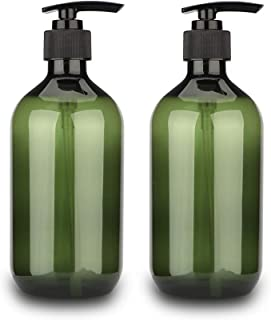 Sdoot Pump Bottle, 17oz 500ml Shampoo Pump Bottles Empty Lotion Bottles with Pump Dispenser, 2 Pack-Green
