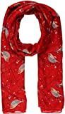 World of Shawls New Ladies Womens Celebrity Style Long Scarf Scarves Maxi Sarong Clearance Sale (Robin Birds Red)