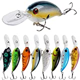 YONGZHI Fishing Lures Shallow Deep Diving Swimbait Crankbait Fishing Wobble Multi Jointed Hard Baits for Bass Trout Freshwater and Saltwater-Type A