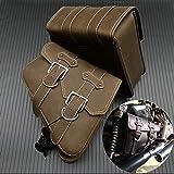 Baedivg 2X Alforja Universal para Motocicleta Alforja de Cuero PU Maleta para Motocicleta, para Harley Sportster XL883 XL1200 Bolsa de Herramientas Iron Dyna
