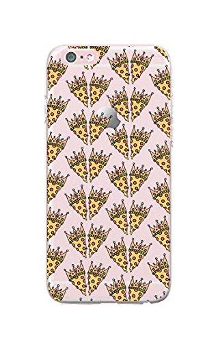 Replacement for iPhone 6/Replacement for iPhone 6S - Durable Slim Case - Pizza Queen - Pizza - Pizza Lover - Cute - Cute Pizza - Fun - Funny - Pattern