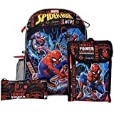 Personalized 16' Backpack with Lunch Bag, Key Ring, or Carabiner Clip (Personalized 16' Spider Man Backpack with Lunch Bag, Key Ring, Water Bottle, and Carabiner Clip)