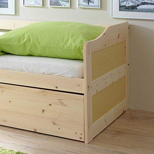 Massivholzbett mit Bettkasten Gästebett Pharao24 - 2