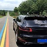 GOUC Spoiler Spoiler Abs Car Styling Auto Techo Trasero Racing Techo Trasero Ventana Alerón ala Adecuado para Porsche Macan SUV 2015 2016