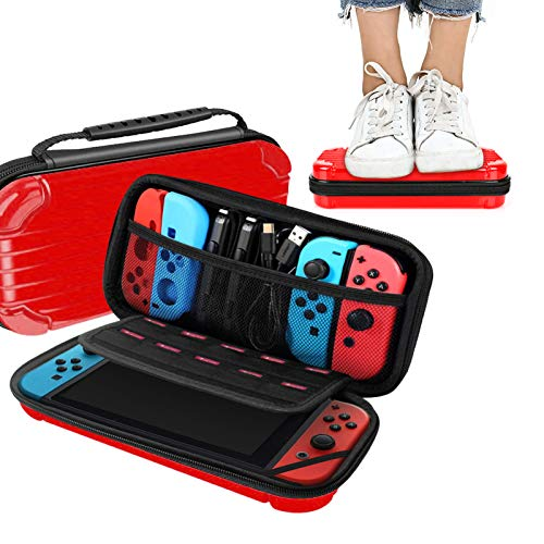 Carry Case for Nintendo Switch,HONEST KIN Protective Travel Switch carrying case Hard Shell Pouch with 10 Game Cards Holders,Pouch for Nintendo Switch 2017 Console & Accessories - Large Capacity