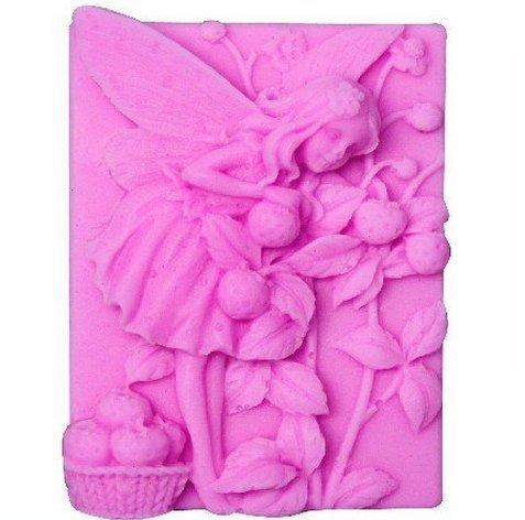 Allforhome 7,6cm Fée Fleurs Ange Craft Moule à Savon en Silicone Motif Craft Moules DIY