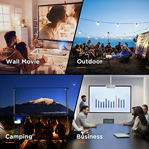 """BOMAKER Mini Projector for Phone, WiFi Projector Portable for Outdoor/Office PPT, Full HD 200"""" Display Supported, Compatible with Laptop, HDMI, TV Stick, Entertainment Gift for Father/Husband/Family"""