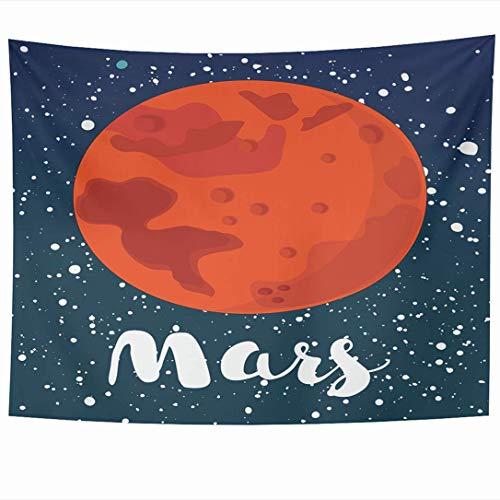 N\A Wandbehang Wandteppiche Mars Globus Erde Rot Plasma Wissenschaft Tiefe Nacht Natur Planet Stern Objekte Ball Komet Weg Entdeckung Wandteppich Wanddecke Wohnkultur Wohnzimmer Schlafzimmer Wohnheim
