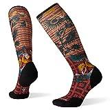 SSmartwool Calcetines de compresión sobre la pantorrilla para mujer, diseño de girasol -  Rosa -  S