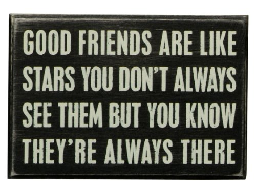 Primitives by Kathy 17423  Box Sign, Good Friends, Wood, 6 x 4