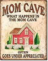 ママの洞窟ママの洞窟で何が起こるかブリキ看板ヴィンテージ鉄の絵の金属板ノベルティ装飾クラブカフェバー。