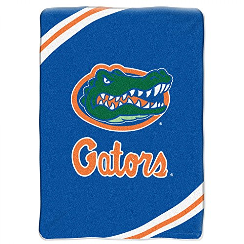 NCAA Florida Gators Force Royal Plush Raschel Throw Blanket, 60x80-Inch