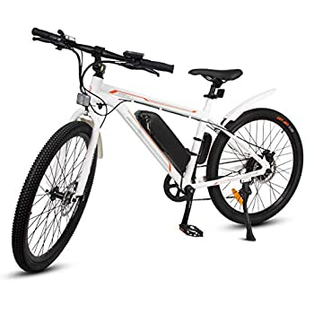ECOTRIC 26  Ebike Electric City Bicycle Bike Powerful 350W 36V/9AH Removable Lithium Battery Assist Disc Brake System Throttle Pedal  White