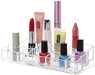 Ontime 24 Compartment Makeup Lipstick Storage Holder, Transparent