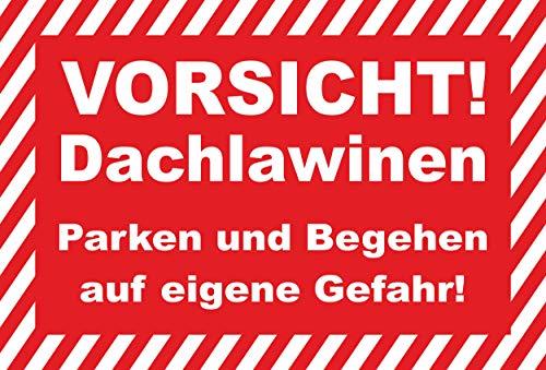 KE-Partyzubehör Schild 30x20cm Vorsicht Dachlawinen - 3mm Aluverbund - 20 Varianten