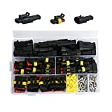 YASUOA 352Pcs Waterproof Car Electrical Wire Connector Terminals Plug Kit 1/2/3/4 Pin Truck Harness Plug Car Spark Plug Connector