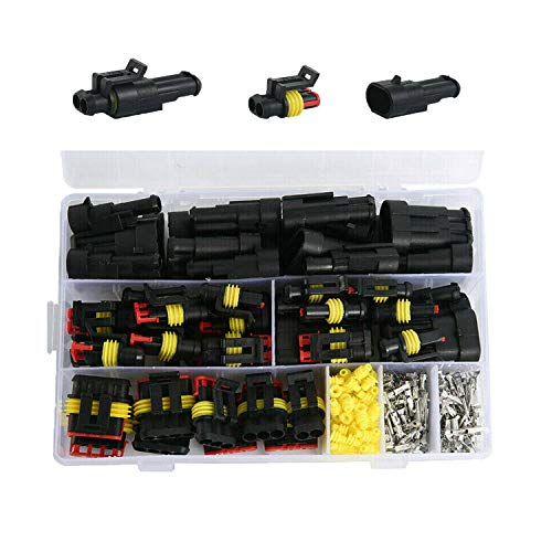 YASUOA 352Pcs Waterproof Car Electrical Wire Connector Terminals Plug Kit