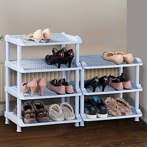 WENZHE Étagères À Chaussures Support Meubles Shoebox Accueil Fournitures Multifonction Simple Assemblée Acier Au Carbone, 3 Étages, 58 * 27 * 65 Cm (taille : 50 * 30 * 49cm)