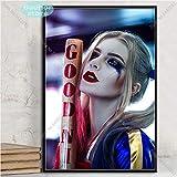 supmsds Kein Rahmen Harley Quinn Kunstplakat Joker Squad Leinwand Malerei Poster und Drucke Wandkunst Bild für Wohnzimmer Home Decor 40x60cm