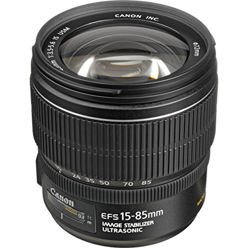 Canon EF-S 15-85mm f/3.5-5.6 IS USM - Objetivo para Canon (Distancia Focal 15-85mm, Apertura f/3.5-38, Zoom óptico 5.6X,estabilizador, diámetro: 72mm) Negro