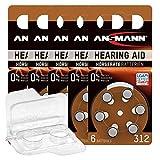30x Ansmann 312 Hörgerätebatterien Braun PR41...