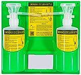 CGOLDENWALL Lavaojos de Emergencia Portátiles de Botella Doble Estación de Lavaojos portátil Polietileno No Tóxicos para Laboratorio