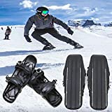 Mini Ski Skates Snow Shoes, Lightweight Single People Ski Board for Short Skiboard Adjustable Snowshoes and Sport Outdoor Short Skiboard Snowblades