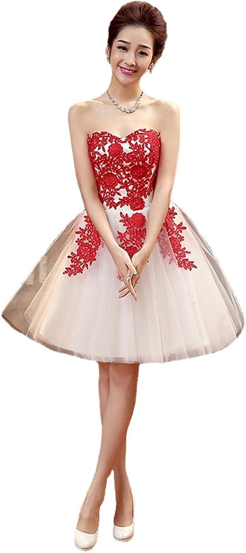 AK Beauty Sweetheart Appliques Organza Sleeveless Mini Prom Gown