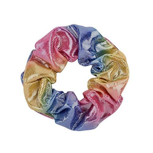 Glitter Lady Hair Scrunchies Scrungies Bandas Elástica Color Pure Color Bobble Sports Dance Velvet Suave Encantador Interruptor Hairband Scrunchies (Color : 11)