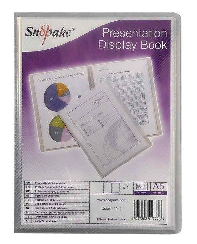 Snopake Präsentations-Sichtbuch A5, 20 Hüllen, transparent