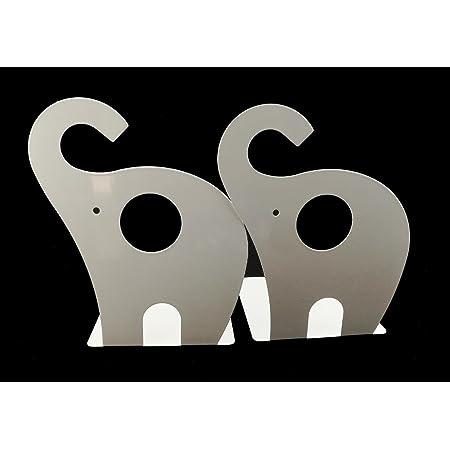 AOOA Sujetalibros de Metal Antideslizantes con Forma de Elefante decoraci/ón de ni/ños Azul