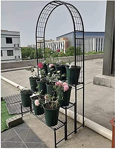 Trädgårdsbåge, Metallvalbåge, Trädgårdsborre trellis Heavy Duty Rose Arch 4 Tier Plant Stand, för Prom Dekoration Balkong Hotell Terrasser Uteplats, Dekorativ trädgård