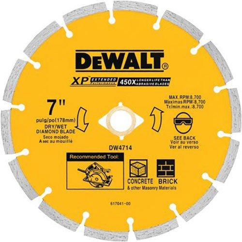 DEWALT DW4714 Industrial 7-Inch Dry Cutting Segmented Diamond Saw Blade woth 5/8-Inch or 7/8-Inch Arbor