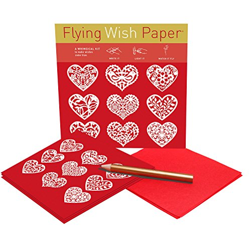 """Flying Wish Paper - Beautiful Display of Your Love - SCARLET HEARTS - 5"""" x 5"""" - Mini Kits"""