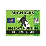 fagraphix Michigan Bigfoot Hunting Permit...