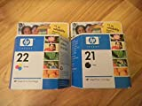 NEW No. 21 Black and No. 22 Tri-Color Ink Cartridge Combo Pack (Computer)