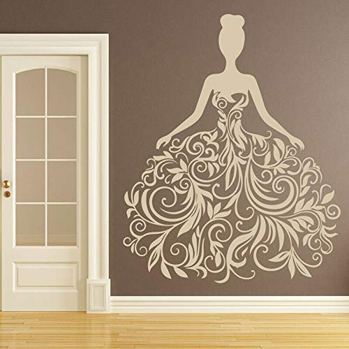 Moda mujer vestido de novia fiesta pared pegatina vinilo decoración ventana calcomanías...
