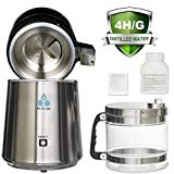 DC HOUSE 1 Gallon Countertop Water Distiller Stainless Steel Distiller with Glass Filter and Most...