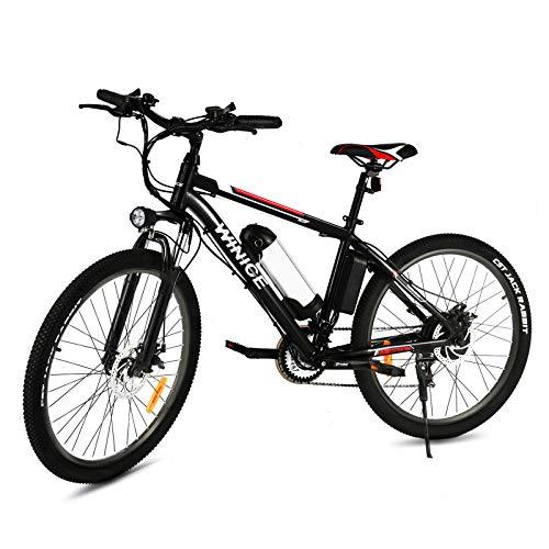 Vivi Bicicleta Eléctrica 350W, 26'' Bicicleta Eléctrica Montaña con Batería Extraíble de...