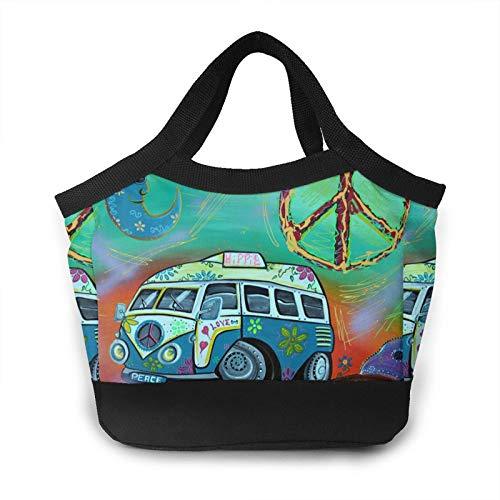 Zhengshi Hippie Signs Bolsa de aseo de viaje, portátil, bolsa de viaje cosmética para lavado durante la noche, gimnasio, bolsa de afeitado, kit de maquillaje para mujer