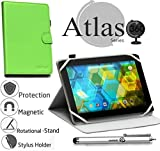 Navitech Green 360 Rotational Case Cover Compatible with The Vuru A33 7-Inch 8GB Tablet