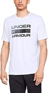 تي شيرت رجالي بأكمام قصيرة مطبوع عليه كلمة Wordmark من Under Armour