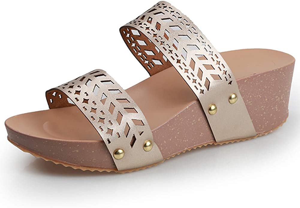 SaraIris Price reduction Slip on Wedges Sandals for Platform Open Toe Cork Ranking TOP2 Women