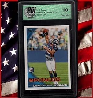 Demaryius Thomas Broncos 2010 Topps Rookie Card PGI 10
