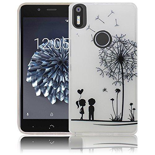 bq Aquaris X5 Plus Passend Pusteblume Handy-Hülle Silikon - staubdicht, stoßfest und leicht - Smartphone-Case