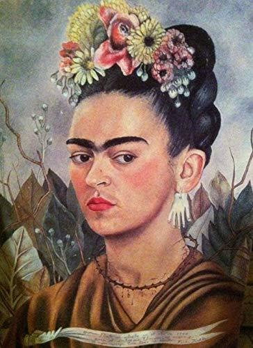Nueva pintura por números para adultos, niños, autorretrato de Frida Kahlo, pintura digital DIY por kits de números sobre lienzo