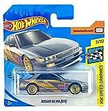 Hot Wheels Nissan Silvia (S13) (Plata) Gráficos de velocidad 7/10 HW 2020 - 111/250 (tarjeta corta) GHB40